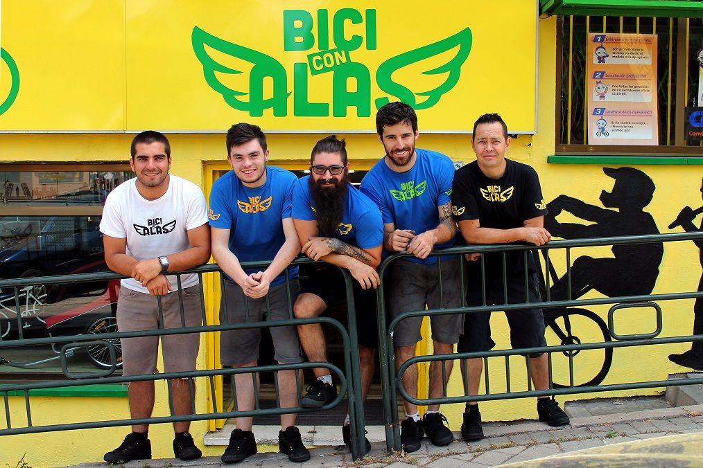 equipo de bici con alas